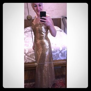 Stunning Gold Sequined Gown